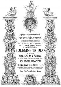 TRIDUO SOLEDAD